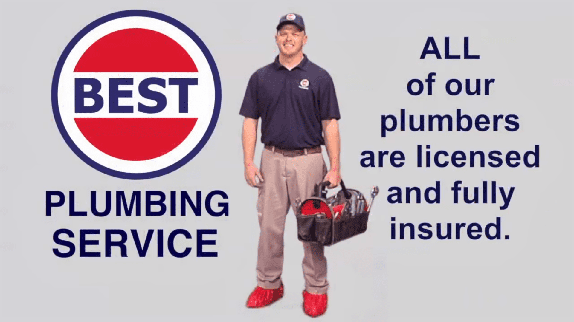 All our plumbers are licenced and fully insured